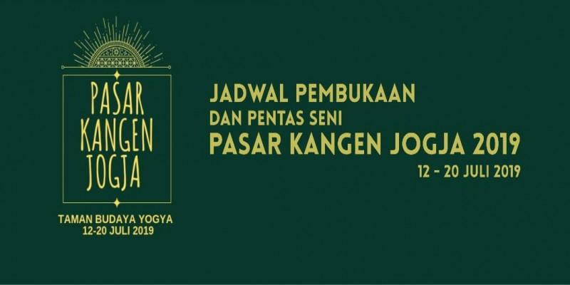 Jadwal Pembukaan dan Pentas Seni Pasar Kangen Jogja 2019