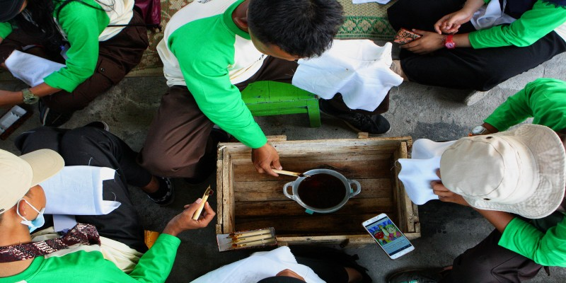 Kunjungan Peserta Kemah Budaya di Kampung Wisata Dipowinatan