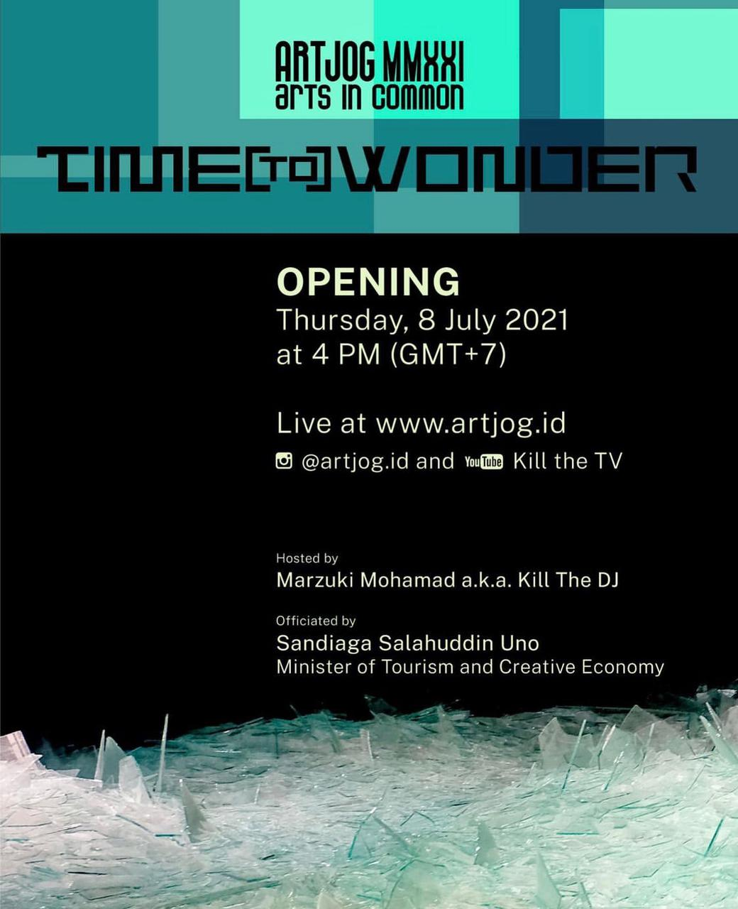 """ARTJOG MMXXI Arts in Common  """"Time To Wonder"""""""