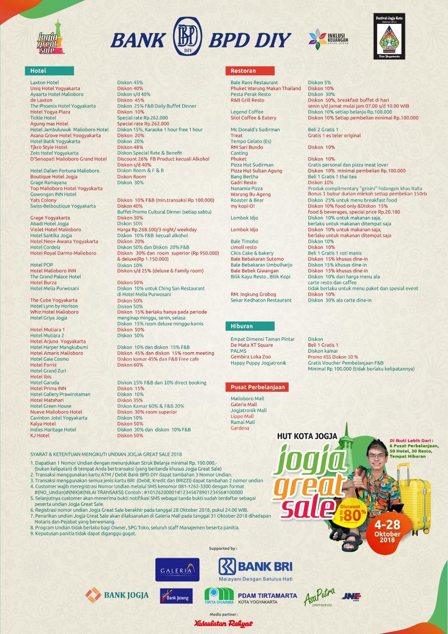 Great Sale Dalam Rangka HUT Kota Jogja ke 262
