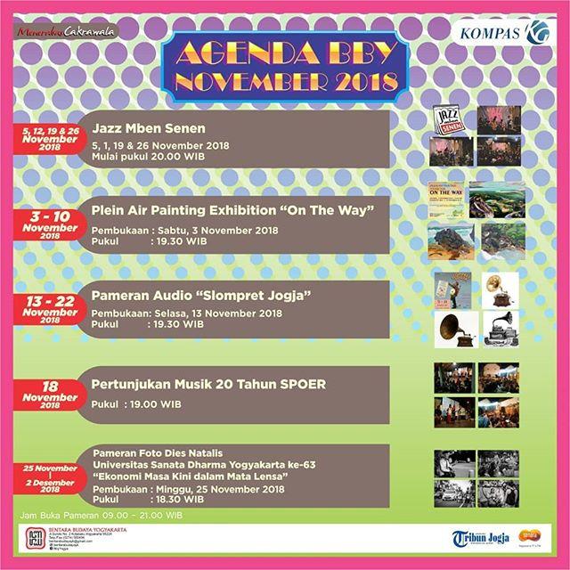 Agenda Bentara Budaya Yogyakarta November 2018